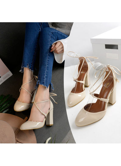 Lace up Block heels - KP001843
