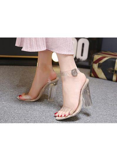 Transperant Chunky heels -  KP001847