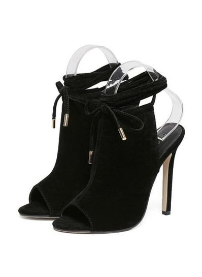Black Suede Sandals - KP001858
