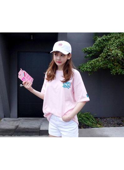 O Neck Pink T-shirt - KP001869