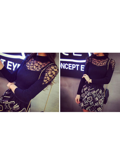 High quality Turtle Neck top - KP001875