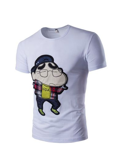 Cartoon Print T-shirt- KP001916