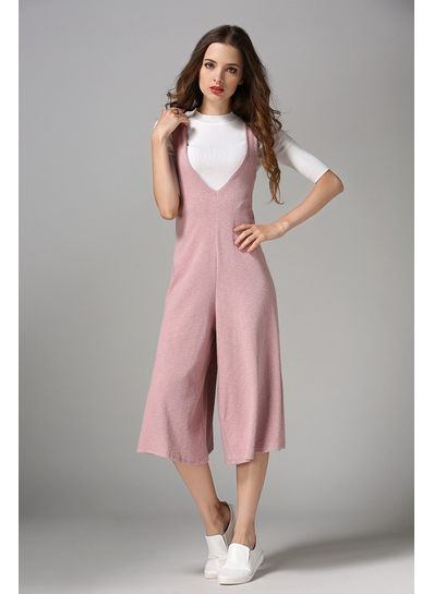 Solid Color Womens Jumpsuit - KP001975
