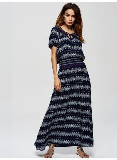 Stripe Long Maxi Dress - KP001981