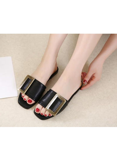 Square Buckle Slippers - KP002030