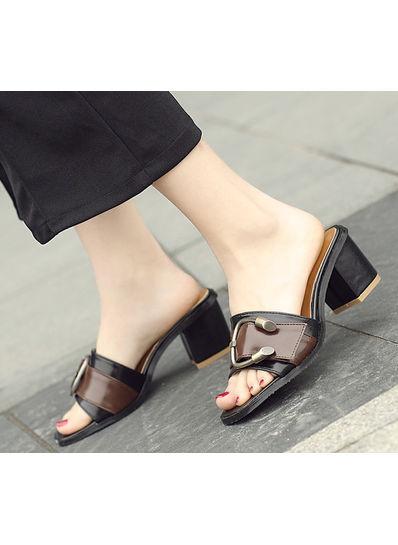Block Heel Slippers - KP002052