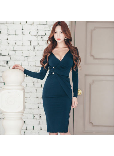 Sexy V Neck Bodycon Dress - KP002078