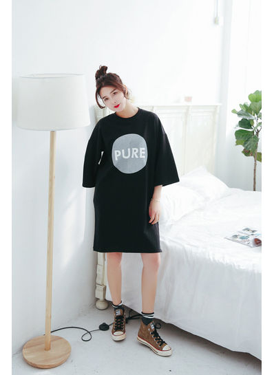Pure Printed Loose T-shirt - KP002099