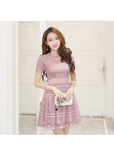 Sweet O-Neck Dress - KP002109