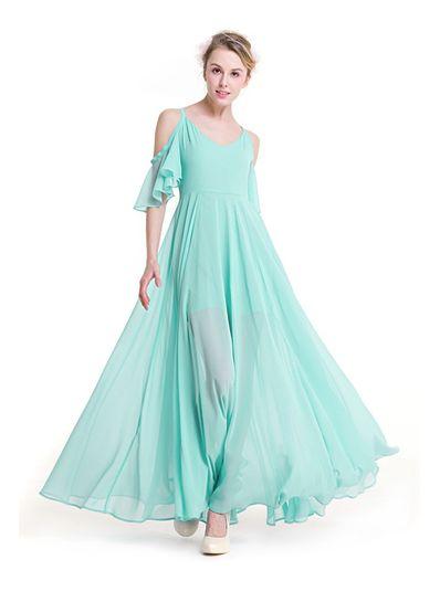 Beautiful Chiffon Flowy Party Dress - KP002114