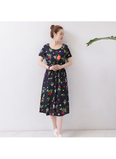 Cute Chiffon Floral Dress - KP002123