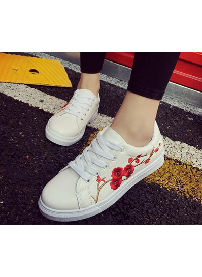 Embroidery Skate Lace Shoes - KP002177