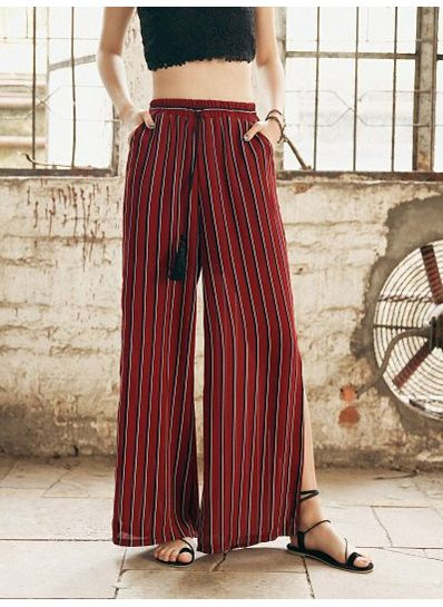 Stripped Wide Leg pants - KP002183