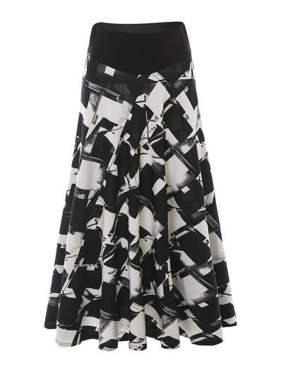 Printed Midi Skirt - KP002202