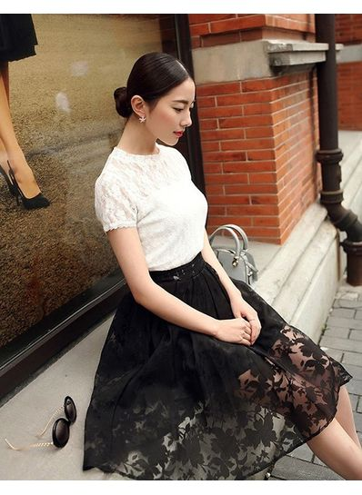Black Lace Tutu Skirt