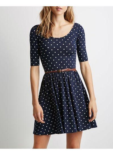 Polka Dot Dress With Belt