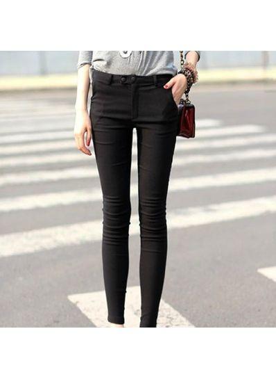 Black High Waist Skinny Pants