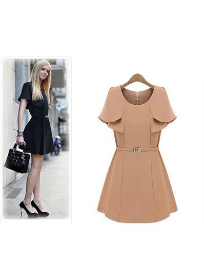 Korean Fashion Dress With Belt