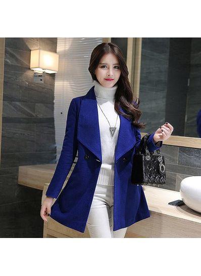 Hot Style Turndown Collar Coat - KP001431