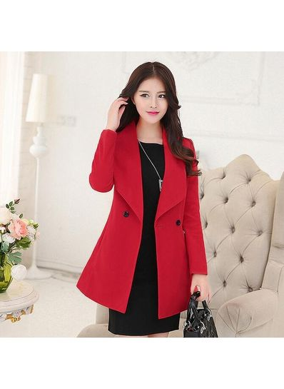 Hot Style Turndown Collar Coat - KP001430