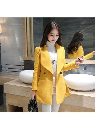 Hot Style Turndown Collar Coat - KP001429