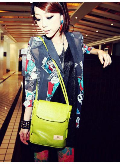 Cute Bucket Bag -Green- KP001572