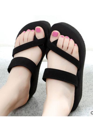 Simple Wedge Slippers -  KP001894