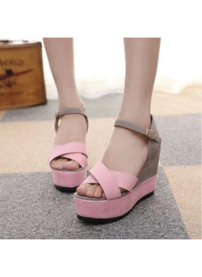 Solid Suede Wedges - KP001906