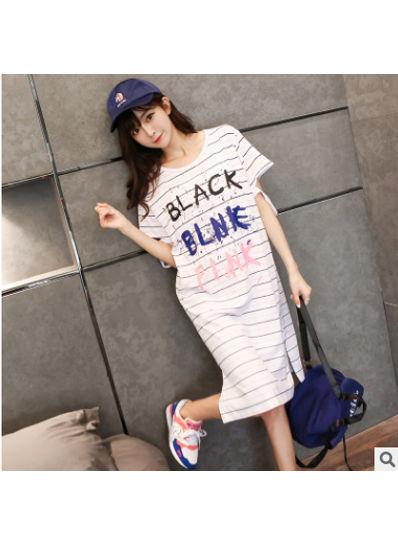 Cute Stripe T-shirt Dress - KP002164