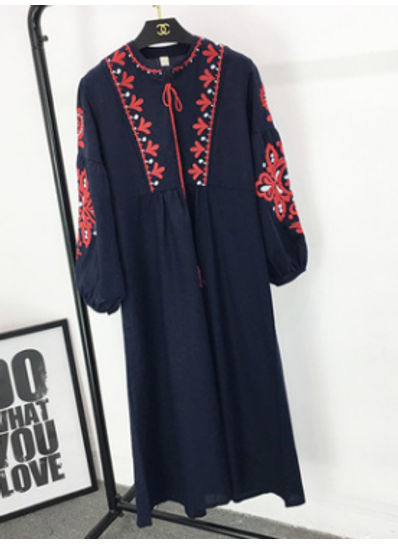 High Quality Embroidery Dress - KP002195