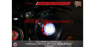MXSHL127 Royal Enfield Bullet STANDARD 350-500 Headlight Robotic XFR Cree projector