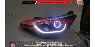 MXSHL80 Square Projector Headlight With DRL System Hyundai i20 Elite