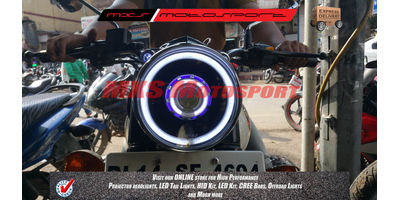 MXSHL195 Projector Headlights Royal Enfield Bullet Classic 350 and 500