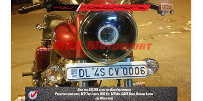 MXSHL124 Royal Enfield Bullet STANDARD 350-500 Headlight Projector