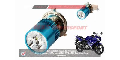 MXS2195 White 3CREE LED HID Type Headlamp Bulb For Yamaha YZF R15 Pair