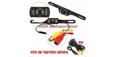 MXS2367 7 Inch Rearview Mirror Monitor Reverse  Parking Camera Connect via 2x AV