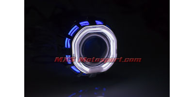 MXS2401 Motorcycle HID BI-XENON Projector blaster Robotic Square Angel Eye
