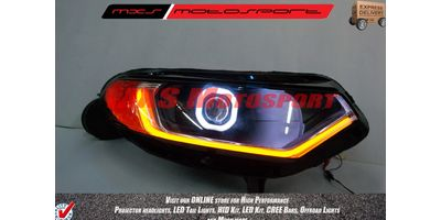 MXSHL180 Projector Headlights with audi Style DRL's Ford Ecosport