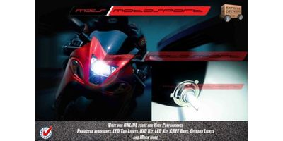BI-XENON LIght H4 FITTING HIGH LOW FUNCTION HID CONVERSION KIT MXS Motosport