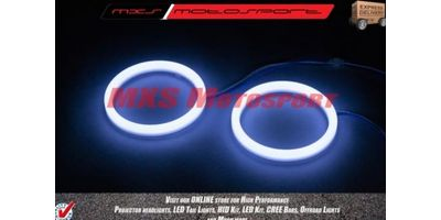 MXS1941 White 3 inch Car Bike motorcycle COB Led Angel Eyes Halo Ring Light 12V Pair