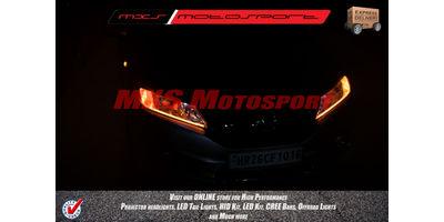 MXS2233 Audi-Style White-Amber DRL Daytime Running Light for Honda City Idtec
