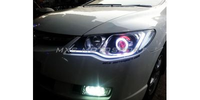 MXS1894 Audi-Style White-Amber DRL Daytime Running Light for Honda Civic