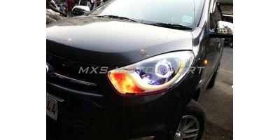 MXS1903 Audi-Style White-Amber DRL Daytime Running Light for Hyundai I10