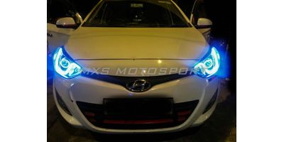 MXS1905 Audi-Style White-Amber DRL Daytime Running Light for Hyundai I20