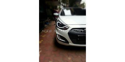 MXS1899 Audi-Style White-Amber DRL Daytime Running Light for Hyundai Verna Fluidic