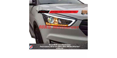 MXSHL375 Projector Headlights Hyundai Creta with DRL's & Matrix Mode