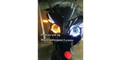 MXS2200 Angel Eyes Halo Ring Pulsar rs 200 Bike Motorcycle COB LED With Amber Indicator Signal