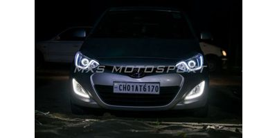 MXSHL14 Hyundai i20 Headlights Bi xenon projector Day running light HID