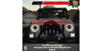 MXSHL81 Tech Hardy Racing Project Bullseye Projector Headlights for Mahindra Thar Jeep