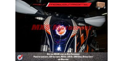 MXSHL136 KTM Duke 390 & 200 Bi Xenon projector + Robotic Eye HID & Day running light